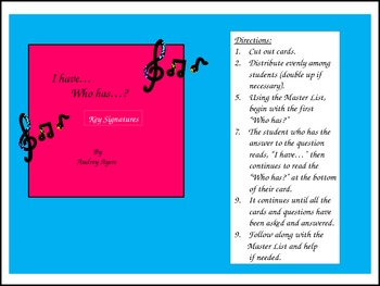 I Have...Who Has? Key Signatures Game/Activity