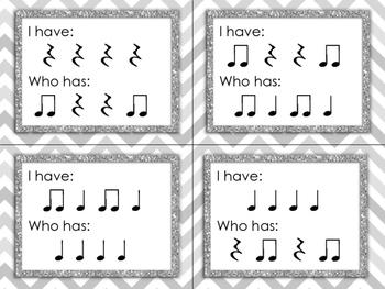 Rhythm Game - I Have / Who Has? - Ta, Ti-ti, Ta Rest