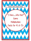 """I Have...Who Has"" - Multiplication Facts 4's & 5's (Doubl"