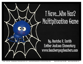 I Have...Who Has...? Multiplication Game