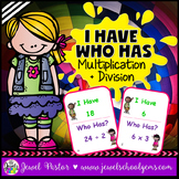 Multiplication and Division Activities (I Have Who Has Game)