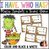 I Have… Who Has? Music Symbols Game – Halloween Edition