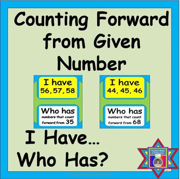 Numbers that Follow: I Have...Who Has {Count forward from given #} CCSS K.CC.A.2