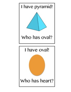 I Have/Who Has? Shapes