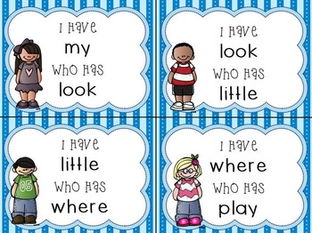 I Have...Who Has... Sight Words - 7 Sets
