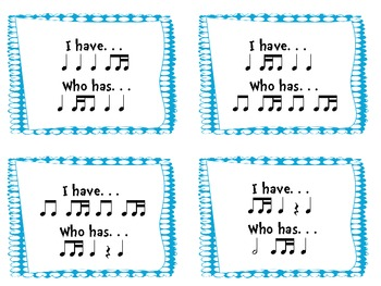 I Have/Who Has Sixteenth/Eighth Note Combinations (Ti-tika