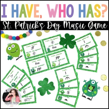 I Have…Who Has? St. Patrick's Day Monsters: Music Symbols Game {46 Symbols}