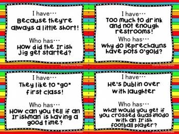 """St. Patrick's Day """"I Have...Who Has?"""" Riddles **Newly Updated!"""