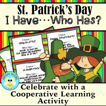 "St. Patrick's Day ""I Have...Who Has?"" Riddles **Newly Updated!"
