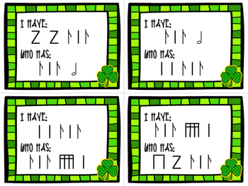 Rhythm Game - I Have / Who Has? - St. Patrick's Day - Sycopa