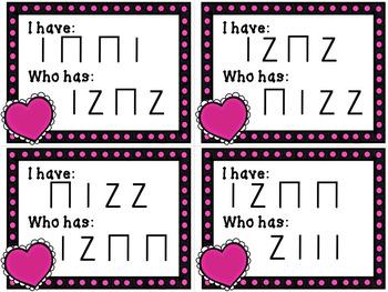 I Have / Who Has? Valentine's Rhythms - Ta, Ti-Ti, Rest