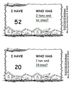 I Have/Who Has -- place value