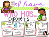 I Have...Who Has...Exponents - PERFECT FOR MATH WORKSHOP!