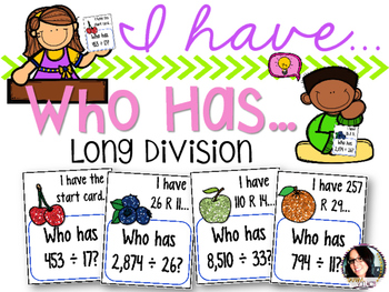I Have...Who Has...Long Division COMMON CORE ALIGNED 5.NBT.6