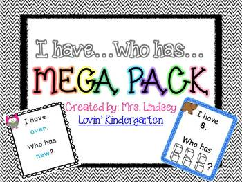 I Have...Who Has...Mega Pack