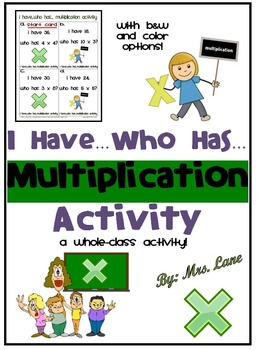 I Have...Who Has...Multiplication Activity