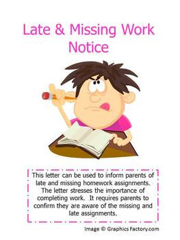 Late & Missing Work Notice