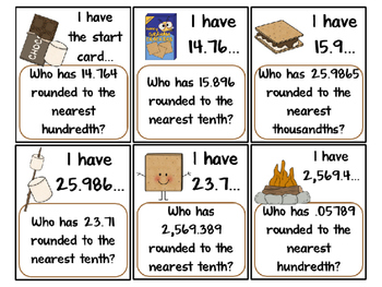 I Have...Who Has...Rounding Decimals COMMON CORE ALIGNED 5.NBT.4