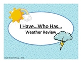 I Have..Who Has...Weather Review