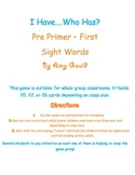 I Have....Who has? Sight Words