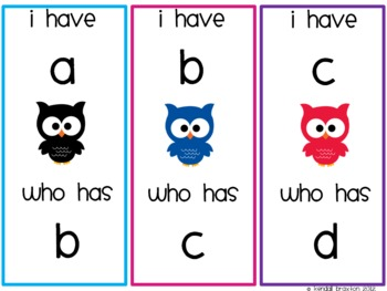 I Have....Whoooo Has? ABC's