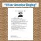 "Walt Whitman's ""I Hear America Singing"": Poem, Reading Questions, & Key"