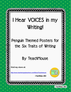 I Hear VOICES in my Writing