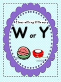 I Hear W or Y: Initial Sound Discrimination