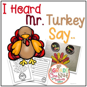 I Heard Mr. Turkey Say {Thanksgiving}
