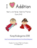 Valentine No-Prep Addition Printables and More