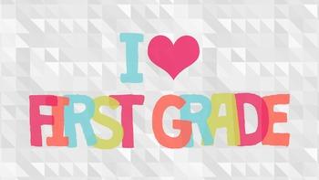 I Heart First Grade Desktop Wallpaper