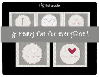 I Heart First Grade Banner