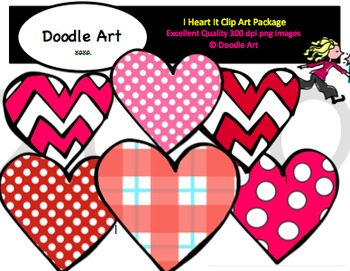 I Heart It Clipart Pack