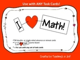 I Heart Math Game Board and Advance/Retreat Cards for Use