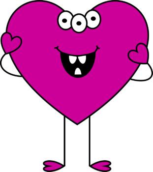 I Heart Monsters 2 Clip Art