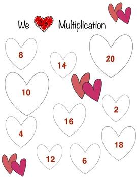 I Heart Multiplication Game