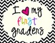 I Heart My First Graders Sign Pack {Chevron}