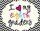 I Heart My Eighth Graders Sign Pack {Chevron}