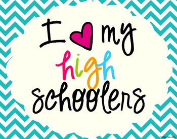 I Heart My High Schoolers Sign Pack {Chevron}