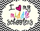 I Heart My Middle Schoolers Sign Pack {Chevron}