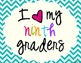 I Heart My Ninth Graders Sign Pack {Chevron}