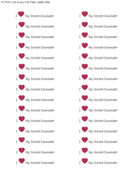 {FREEBIE} I Heart My School Counselor Stickers