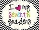 I Heart My Seventh Graders Sign Pack {Chevron}