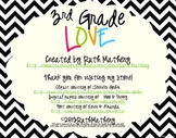 I Heart My Third Graders Sign Pack {Chevron}