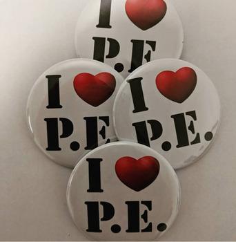 I Heart PE Buttons Digital Sheet
