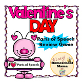 I Heart Parts of Speech - Valentine's Day Themed Parts of Speech Review Game