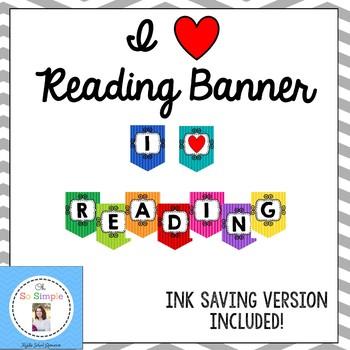 I Heart Reading Banner