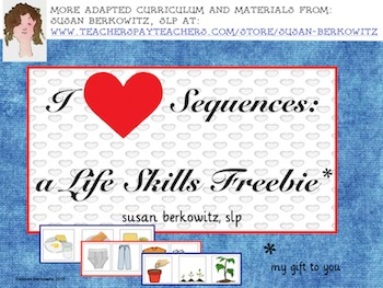 I Heart Sequences _ a Life Skills Freebie for Practicing Sequencing