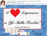Free I Heart Sequences Life Skills for Sequencing in Speech Language