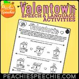 Valentown: Valentine's Day Speech Therapy: NO PREP!
